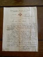 Oude Brief   Baden Powell Belgian Boy Scouts     1930 SCHEPDAEL  Gesigneerd  Door Voorzitter - Scoutisme