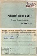 Publicité Route Et Ville Paris - Cachet Octogonal  - Saint Gobain   (112258) - Publicité