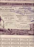 (Tapp 7)4 Titres/Mines De Balla-Karaidin1923N= 4 - Aandelen