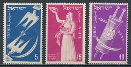 °°° ISRAEL - Y&T N°50/52 - 1951 MNH °°° - Nuovi (senza Tab)