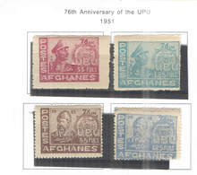 Afghanistan PO 1951 76 Ann.UPU  Scott.394/397 See Scan.On Scott.Page; - Afghanistan