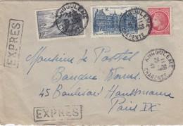 LETTRE  EXPRES. 1947. 31F. ANGOULEME POUR PARIS  /  4 - 1921-1960: Moderne