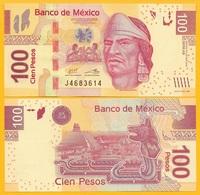 Mexico 100 Pesos P-124 2014 (Serie AS) UNC Banknote - Messico