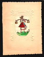 Bulgaria Silk Painted And Embosed Card Very Old W5_256 - Oude Documenten
