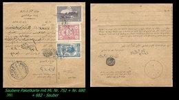 EARLY OTTOMAN SPECIALIZED FOR SPECIALIST, SEE...Mi. Nr. 752 - Mayo 109 - Paketkarte - - 1920-21 Anatolie
