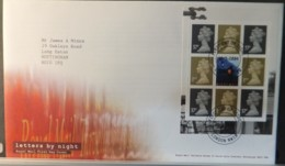 GB Booklet Pane  2004 FDC - Letters By Night London NW10 Postmark FIRST DAY COVER POSTAL - 2001-2010 Em. Décimales