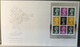 GB Booklet Pane  2007 FDC - Machin Definitives Windsor Postmark FIRST DAY COVER - 2001-2010 Em. Décimales