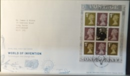 GB Booklet Pane  2007 FDC - World Of Invention Menai Bridge Postmark FIRST DAY COVER - 2001-2010 Em. Décimales