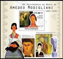 Mozambique Moçambique 2010  Bloc N°  314 *** MNH Cote 14,00 Euro Painter Amedeo Modigliani - Mozambique