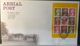 GB Booklet Pane  2011 FDC - Aerial Post Hendon Postmark FIRST DAY COVER AVIATION POSTAL KGV - FDC