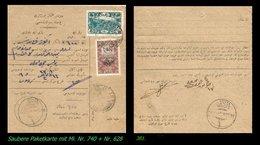 EARLY OTTOMAN SPECIALIZED FOR SPECIALIST, SEE...Mi. Nr. 740 - Paketkarte - - 1920-21 Anatolie