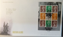 GB Booklet Pane  2010 FDC - Britain Alone Dover Postmark FIRST DAY COVER WWII - 2011-... Em. Décimales