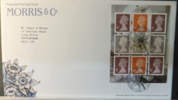 GB Booklet Pane  2011 FDC - Morris And Company Walthamstow Postmark FIRST DAY COVER FLOWERS - 2011-... Em. Décimales