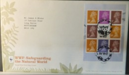 GB Booklet Pane  2011 FDC - WWF Godalming Postmark FIRST DAY COVER ANIMALS PANDA - 2011-... Em. Décimales
