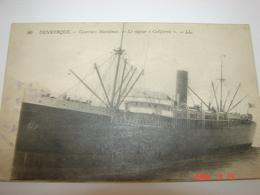 "C.P.A.- Dunkerque (59) - Courriers Maritimes - Le Vapeur ""Californie"" - 1915 - SUP (BB89) - Cargos"