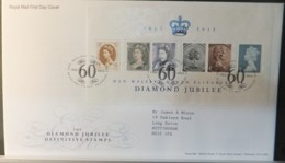 GB Miniature Sheet  2012 FDC - Queen Diamond Jubilee Definitive Tallents Postmark FIRST DAY COVER - FDC