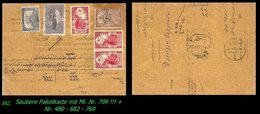 EARLY OTTOMAN SPECIALIZED FOR SPECIALIST, SEE...Mi. Nr. 709 - Paketkarte - RR- - 1920-21 Anatolie