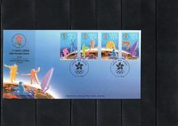 Hong Kong 2000  Olympic Games Sydney FDC - Ete 2000: Sydney
