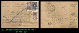 EARLY OTTOMAN SPECIALIZED FOR SPECIALIST, SEE...Mi. Nr. 741 + 743 - Paketkarte - 1920-21 Anatolie