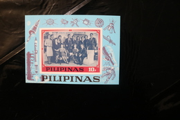 Philippines JFK Family Kennedy Space Souvenir Sheet Block Unlisted MNH 1968 A04s - Philippines