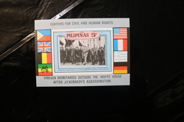 Philippines JFK Kennedy Dignitaries White House Flags Souvenir Sheet Block Unlisted MNH 1968 A04s - Philippines