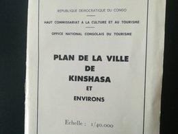 VIEUX PLAN DE LA VILLE DE KINSHASA RÉPUBLIQUE DÉMOCRATIQUE DU CONGO EX - CONGO BELGE COLONIE BELGIQUE CARTES CARTE - Planches & Plans Techniques