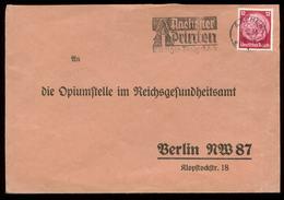 P0816 - DR Briefumschlag: Mit Werbestempel Aachen - Berlin Opiumstelle 1936, Bedarfserhaltung. - Briefe U. Dokumente