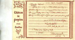 ILLUSTRATEUR(CHANSON) CHATEAU DE PEYRIEU - Musique Et Musiciens