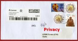 Raccomandata Dalla Spagna Per Italia Registered Letter From Spain To Italy - Pallamano