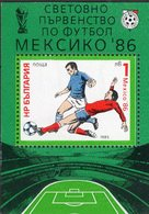 Fußball WM Mexiko 1986 Bulgarien Block 155 ** 3€ Fußballer Bei Spielszenen Hojita Bloc Ss M/s Sport Sheet Bf Soccer - Nuevos