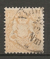 BAV -  Yv.,n° 34 Mi. N° 35   (o) 10k  Jaune  Cote 320 Euro  D 2 Scans - Bayern