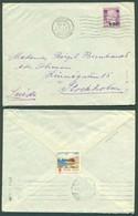 """FRANCE - XX. 1929 (5 Jan). Nice - Sweden. Fkd Env """"CA / + 50c"""" Ovptd Value / 1FR 50 + T Label. Fine. - France"""