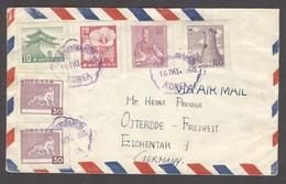 KOREA. 1960 (16 May). Kwanghwamun - Germany. Air Multifkd Env. Violet Cachet. VF. - Korea (...-1945)