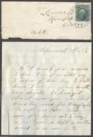 PANAMA. C.1862 (2 April). Aspinwall - USA. Env With Full Contains Fkd US 10c Green / Tied NY Steamship / 9 April Cds Ent - Panama
