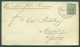 NICARAGUA. 1894 (22 March). Matagalpa - Germany (25 April). 10c Green Stat Env Cds. Via NY - Panama - Corinto. VF. - Nicaragua