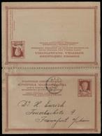 GREECE. 1910 (7 Aug). Crete Permanent Gov. Xania - Germany / Frankfurt. Fourth Issue Doble Stat Card. - Unclassified