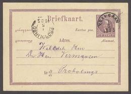 DUTCH INDIES. 1885 (1 May). Kraksaan - Probolingo. 5c Lilas Intense Reverse Inscription. Fine Late Usage Shade. - Niederländisch-Indien