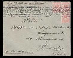 "EGYPT. 1922 (22 Sept). Alexandria - Switzerland. Multifkd Env. Slogan Cachet (xxx) Bilingual ""Affix Postage Stamp At Ext - Unclassified"