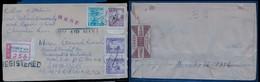 KOREA. 1954 (31 Dec). Kwanohwa Moon Seoul - Japan / Kobe. Reg Air Multifkd Env + Opened At Reverse / Sealed By Ministry - Korea (...-1945)