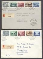 Switzerland - XX. 1955-6. Schlieren - USA / Hartford. 2 Nice Reg Multifkd Env. XF. - Switzerland
