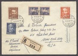 Switzerland - XX. 1932 (10 Dic). Baden - USA / NYC (21 Dec). Reg Multifkd Env. XF. - Switzerland