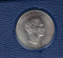 SILBER MÜNZE - CHARLOTTE GRANDE-DUCHESSE DE LUXEMBOURG 1963  100 F - Luxembourg