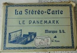 POCHETTE STEREO-CARTE LE DANEMARK 12 VUES . - Danemark