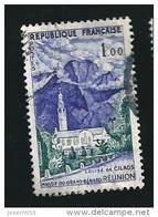 N° 1241 La Réunion Eglise De Cilaos - Massif Du Grand Bénard 1960   FRANCE  Oblitéré Rond Variété Essuyage Bas Du Timbre - Errors & Oddities