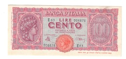 100 LIRE ITALIA TURRITA 10 12 1944 SUP/Q.FDS  LOTTO 2258 - [ 1] …-1946 : Kingdom