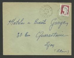 38 - ISERE / Recette Distribution JARCIEU / 1961 - Marcophilie (Lettres)