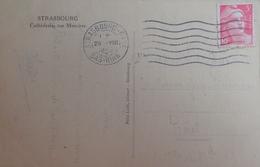 R1949/408 - 1946 - TYPE MARIANNE DE GANDON - N°716 Seul Sur CPA - CàD : STRASBOURG-GARE (Bas Rhin) 29 AOÛT 1946 - France