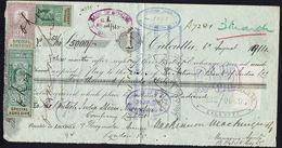 Inde Anglaise - 1914 - Affr. De Timbres Fiscaux Sur Ordre De Paiement Bank Of Bengal Calcutta Pour Lloyds Bank London - - Indien (...-1947)