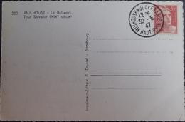 R1949/409 - 1947 - TYPE MARIANNE DE GANDON - N°716B Seul Sur CPA - CàD : MULHOUSE Rue De France (Ht Rhin) 30 JUIN 1947 - France