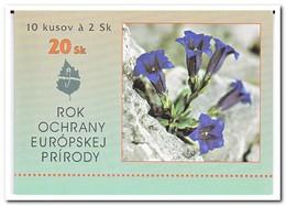 Slowakije 1995, Postfris MNH, Flowers, Booklets - Slowakije